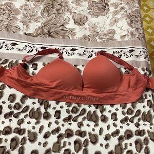 Soft peach closed paded bra , original
